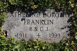 Catherine Dorothy Franklin