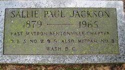 Sallie <i>Paul</i> Jackson