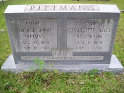 Charlotte Alice <i>Patterson</i> Pittman