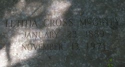 Letitia <i>Cross</i> McGinty