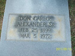 Don Carlos Alexander, Sr