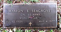 Marion Earl Smokey Seagroves
