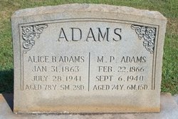 Alice B <i>Smith</i> Adams