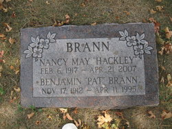 Nancy May <i>Hackley</i> Brann