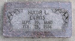 Hulda Amelia <i>Larson</i> Evans