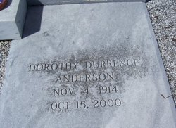 Dorothy <i>Durrence</i> Anderson