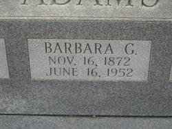 Barbara G Adams
