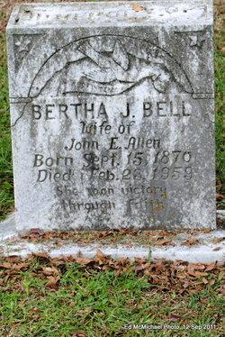 Bertha J <i>Bell</i> Allen