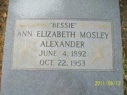 Ann Elizabeth Bessie <i>Mosley</i> Alexander