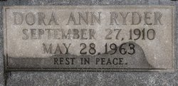 Dora Ann <i>Noonan</i> Ryder