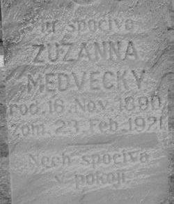 Zuzanna Susie <i>Shedlock</i> Medvecky