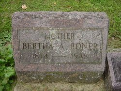 Bertha A <i>Caywood</i> Boner