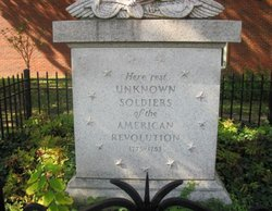 Tomb of the Unknown Revolutionary War Soldiers