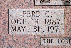 Ferdinand Cleveland Ferd Bouse