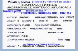 Frederick L Holdeman