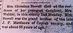 Christian Alpham Elizabeth <i>McDonald</i> Newell