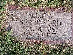 Alice M <i>Rose</i> Bransford