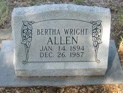 Bertha L <i>Wright</i> Allen