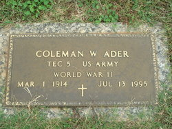 Coleman Woodrow Ader