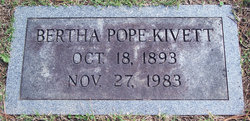 Bertha <i>Pope</i> Kivett