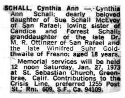 Cynthia Ann Cindy Schall