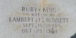 Ruby <i>King</i> Bennett