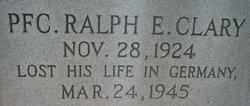 PFC Ralph E Clary