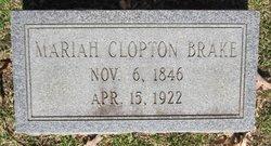 Mariah Louisa <i>Clopton</i> Brake