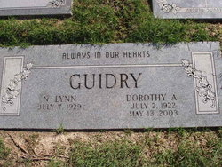 Dorothy A Guidry