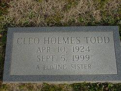 Cleo <i>Holmes</i> Todd