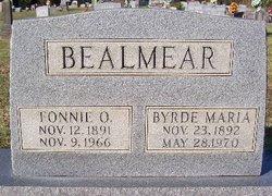 Byrde Maria <i>Yates</i> Bealmear