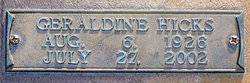 Geraldine <i>Hicks</i> Conner