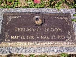 Thelma G <i>Goss</i> Bloom