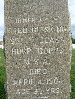 Sgt Fred GIESKING