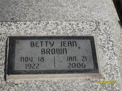 Betty Jean <i>Lehrack</i> Brown