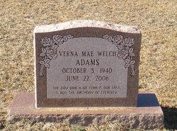 Verna Mae <i>Welch</i> Adams