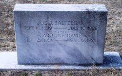 Caroline <i>Davis</i> Baltzegar