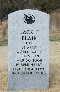 Jack F Blair