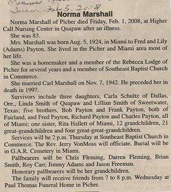 Norma Lee <i>Payton</i> Marshall