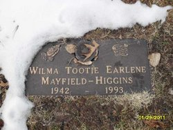 Wilma Earlene Tootie <i>Mayfield</i> Higgins