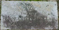 Frances Edna <i>Blackman</i> St. Clair