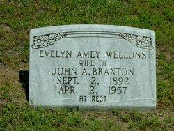 Evelyn Amey <i>Wellons</i> Braxton