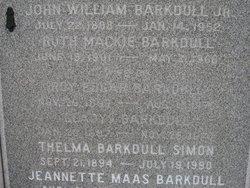 Ruth Jeanette <i>Mackie</i> Barkdull