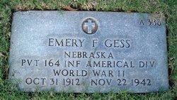 Pvt Emery F Gess