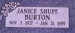 Janice Louise <i>Shupe</i> Burton