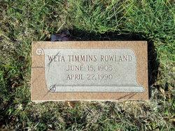 Weta <i>Timmins</i> Rowland