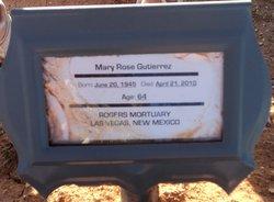 Mary Rose <i>Roybal</i> Gutierrez