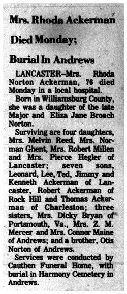 Rhoda <i>Norton</i> Ackerman