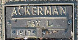 Fay Louise <i>Zimmerman</i> Ackerman