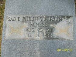 Sadie <i>Phillips</i> Alexander Miness